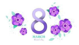 8 march Happy. Women`s Day. Royalty Free Stock Photo