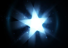 Bright flying star background. Vector illustration. Bright flying star background. Vector illustration Royalty Free Stock Image