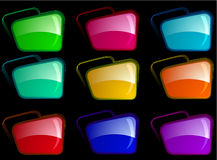Bright folders with different color combination Stock Photo