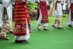 Bright fragment of fast Romamian folk dance Royalty Free Stock Image