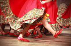 Bright fragment of fast Russian folk dance Royalty Free Stock Photo