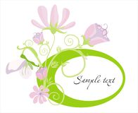 Bright frame. Vector drawing of the frame decorated with meadow flowers Stock Photography