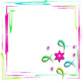 Bright frame with abstract design Stock Image