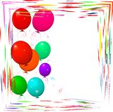 Bright frame with balloons Stock Image