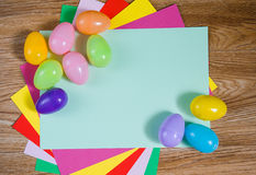 Bright frame for Easter theme Royalty Free Stock Images