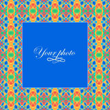 The bright frame in the ethnic style for your photo. Royalty Free Stock Images