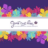 Bright frame with leaves and place for your text. ECO autumn Nature wallpaper. BIO design Stock Image