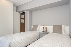 Bright and Fresh Bedroom Stock Image