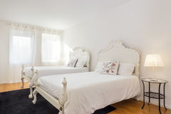 Bright and Fresh Bedroom Suite Royalty Free Stock Photos