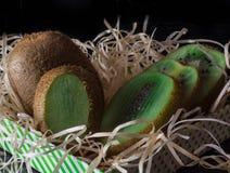 Bright fresh kiwi. Market fresh bright and green kiwi Stock Images