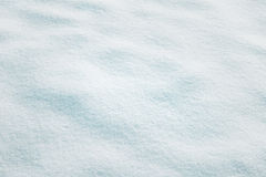 Bright fresh snow closeup texture copy space background Stock Photos