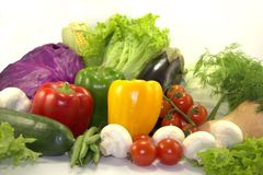 Bright fresh vegetables Stock Image
