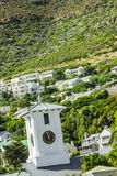 Village in mountains. Bright fresh white colored village in the mountaines next to South Africa Cape town Stock Image