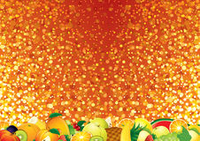 Bright Fruits Background Stock Photos