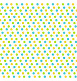 Bright fun abstract seamless pattern with dots isolated on white Royalty Free Stock Photo