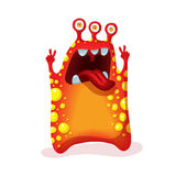 Bright funny monster alien. Graphic character. Royalty Free Stock Photo