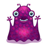 Bright funny monster alien. Graphic character. Stock Image