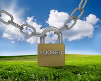 Bright future locked concept Stock Photo