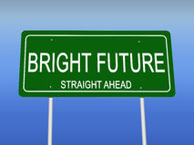 Bright Future Road Sign Royalty Free Stock Image