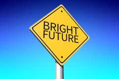 Bright future signpost... Stock Photography