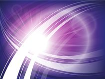 Bright futuristic blue, purple background with circles, waves and lines. Royalty Free Stock Photo