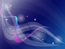 Bright futuristic blue, purple background with circles, waves, s royalty free illustration
