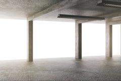 Bright garage with columns stock illustration
