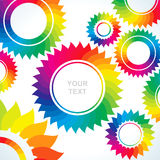 Bright gears of different colors. Bright abstract background of several different colors of gears Stock Illustration
