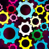Bright gears seamless abstract pattern. Vector eps 10 Royalty Free Illustration