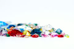 Bright gems  on white background Stock Photography