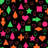 Bright geometric abstract elements seamless patter Royalty Free Stock Photography