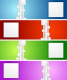 Bright geometric abstract vector banners Royalty Free Stock Image
