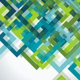 Bright geometric background from blue and green transparent fram. Es, vector texture pattern Royalty Free Stock Photo