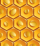 Bright geometric honeycombs segmented background Royalty Free Stock Photo