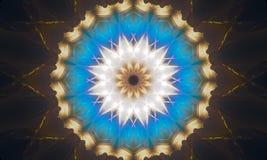 Bright geometric star-shaped mandala Art. Bright geometric mandala Art with beautiful light effects and star-shaped patterns vector illustration