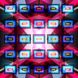 Bright geometric pattern on a dark background Stock Images