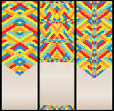 Bright Geometric Pattern at Set of Cards Stock Photography