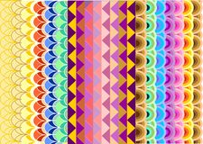 Bright geometric patterns Royalty Free Stock Image