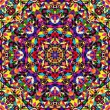 Bright geometric seamless kaleidoscope pattern Royalty Free Stock Image