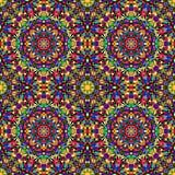 Bright geometric seamless kaleidoscope pattern Royalty Free Stock Photo