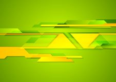 Bright geometric shapes tech background Royalty Free Stock Photos