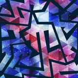 Bright geometric space pattern Royalty Free Stock Images