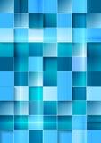 Bright geometric tech blue squares background Stock Photos