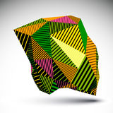 Bright geometric vector abstract 3D complicated backdrop, eps8 c Stock Photos