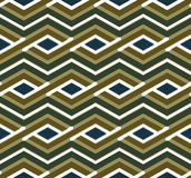 Bright geometric zigzag seamless pattern, symmetric Stock Image