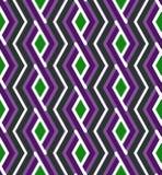 Bright geometric zigzag seamless pattern, symmetric art endless Royalty Free Stock Photography