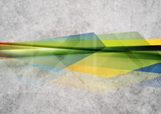 Bright geometry shapes design. Vector grunge Royalty Free Stock Photos