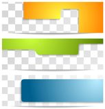 Bright geometry tech banners Stock Photos