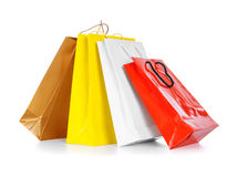 Bright gift bags Stock Images