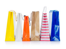 Bright gift bags Stock Photo
